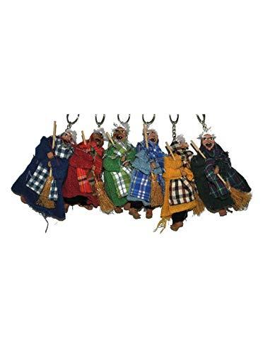 Party Palast - Halloween Dekoration, 6 Deko Hexen Schlüsselanhänger, 11cm, 6 Keycahins Witch, ideal für Jede Halloween Party / Feier / Pinata Füllung, ()