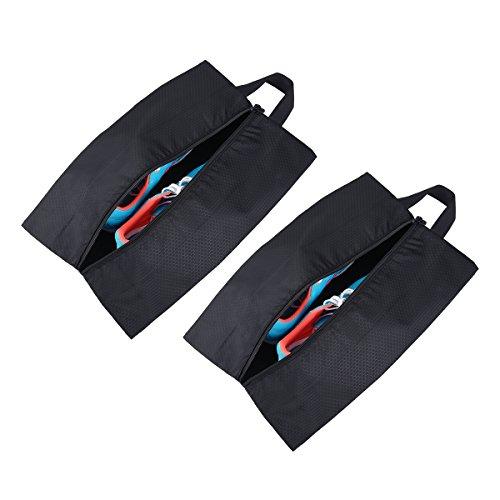 Tyhbelle Kleidertasche Packing Cubes Packwürfe Ultra-leichte Gepäckverstauer Ideal für Reise, Seesäcke, Handgepäck und Rucksäcke(Wasserfeste Schuhtasche 2er Set)