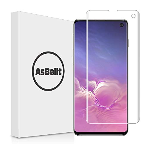 AsBellt Protector Pantalla de Galaxy S10 (Pegamento en Toda la Pantalla) (9H Dureza) (Alta sensibilidad),Cristal Vidrio Templado/Protector de Pantalla para Samsung Galaxy S10