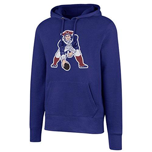 NFL New England Patriots Men's Legacy OTS Fleece Distressed Hoody, Large, Royal England Track Jacket