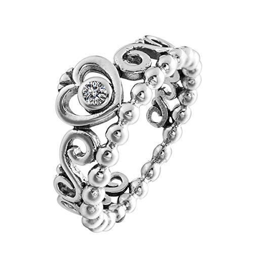 (CHANGEABLE Damen-Ringe Sterling-Silber 925 Kristall Zirkonia 56 Ringgröße öffne Dein Herz)