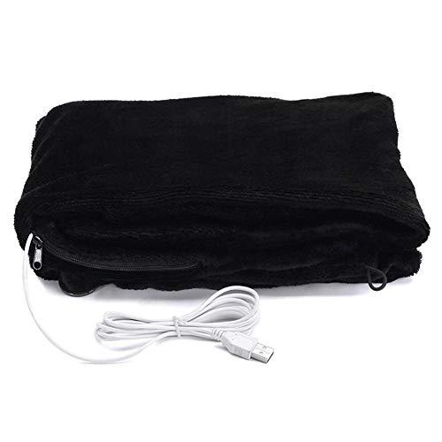 Mantón calentado por USB Calentador eléctrico Manta calefactora Mantón calefactor de cuello de hombro USB suave 5V 4W para el invierno Cálido Cuidado saludable, 45x80cm