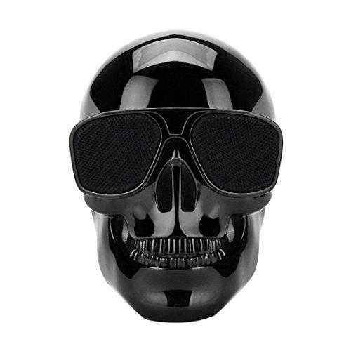 Sannysis Cráneo Plateado Protable Inalámbrico Bluetooth Altavoz estéreo con HD Sound and...