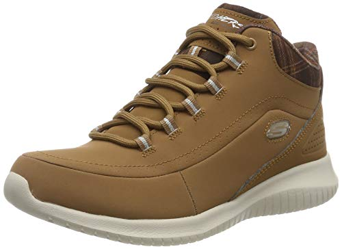 Skechers Ultra Flex 12918-csnt, Sneaker a Collo Alto Donna, Marrone (Brown), 39 EU