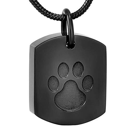 NWZW Memorial Urne Anhänger Glatt Hund Palm Run Free Kettenanhänger Asche Andenken Cremation,Black