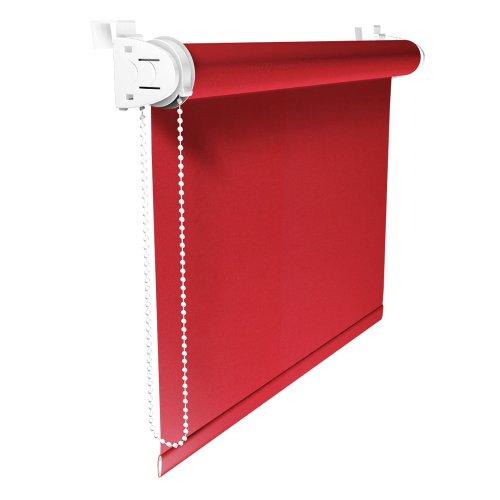 Rot Rollos (VICTORIA M Klemmfix Rollo ohne Bohren, Verdunkelung, 100 x 150 cm, rot)