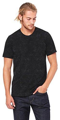 Leinwand, Polyester/Baumwolle T-Shirt–3650 schwarz - Black Mineral Wash