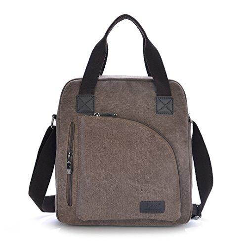 """Nine Stars, in stile Vintage, Borsa a tracolla per maschio, cm 13-35,56 (14"""") iPad, tessuto resistente, Design alla moda, marrone (Multicolore) - DJ1157 marrone"""