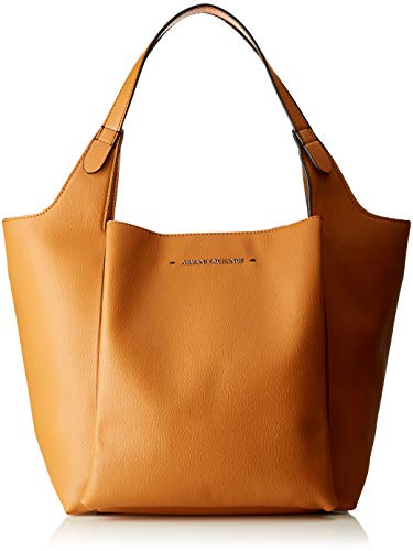 Armani Exchange Damen One Strap Shoulder Bag Schultertasche, Braun (Cognac), 28.0x20.0x42.0 cm