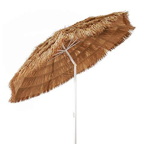 Joy summer ombrellone spiaggia in paglia tropicale hawaii in rafia sintetica 220 cm 48080