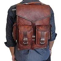 15 Zoll Leder Laptop Rucksack, Vintage Leder Laptop Rucksack Schulter Messenger Bag Rucksack Sling, 2 in 1 Tasche von Jerry Leder