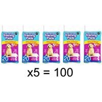 Pack of 100 Super Absorbent Premium Puppy Dog Training Pads 60 x 45cm by World of Pets