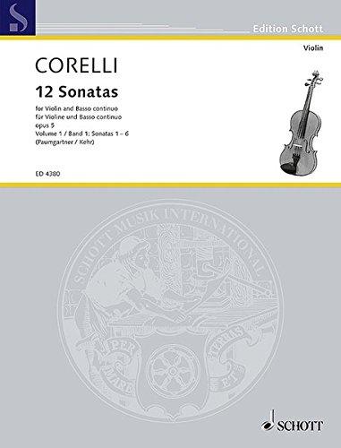 Sonaten(12) 1 Opus 5 Violon