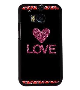 Fuson 2D Printed Love Designer back case cover for HTC One M8 - D4335