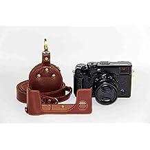 boliner handgefertigt echtem Leder Hälfte Kameratasche für Fuji XPRO 2Fujifilm x-pro2Unterseite Version + Riemen + Mini Aufbewahrungstasche