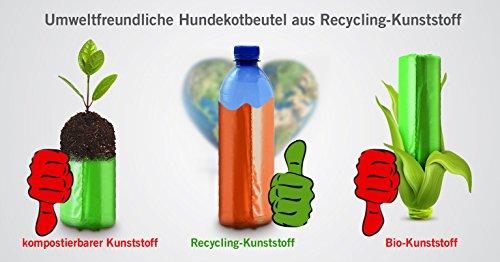 350 Hundekotbeutel ˁ°ᴥ°ˀ umweltfreundlich | biologisch abbaubare Gassibeutel-Alternative | Nachfüllpack z.B. für pooplino Hundekotbeutelspender - 5