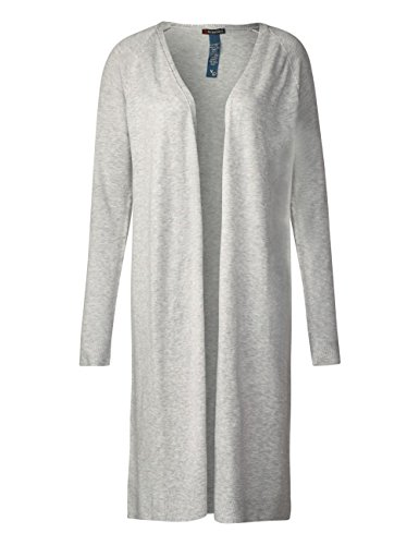 Street One Damen Strickjacke Grau (Cyber Grey Melange 10767)