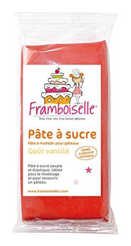 Framboiselle Pâte à Sucre Rouge 250 g - Lot de 4