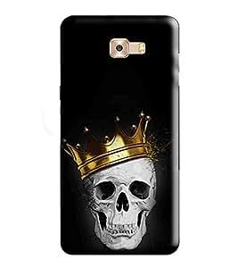 Hi-Me Designer Phone Back Case Cover Samsung Galaxy C9 Pro :: Samsung C9 Pro :: Samsung C9Pro :: SamsungC9 Pro ( Golden Crowned Skull King )