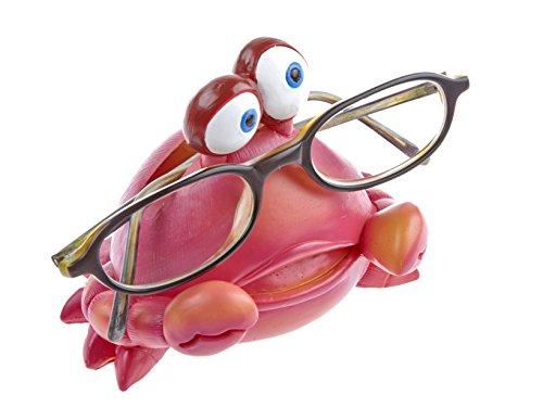 Kinderbrillenhalter, Brillenhalter Karibik, Design Krabbe, handbemalt, aus Polyresin, für jung und alt, für Kinder und Junggebliebene, lustig und frech