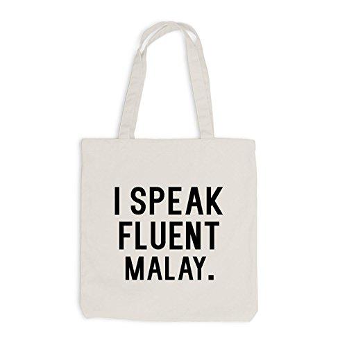 Sacchetto Di Juta - Parlo Fluentemente Malese - Lingua