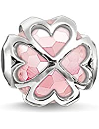 Thomas Sabo Karma Beads, Mujer, Cuenta Trébol rosa, Plata de ley 925, K0170-034-9