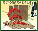Sconosciuto 32 Sacchi Filtro Sacchetti in Carta Doppio STRA per Folletto VORWERK 120 121 122