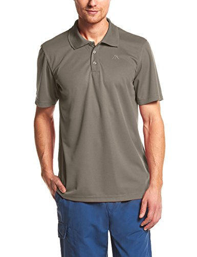 Maier Sports Herren Polo 1/2 Arm T-shirt, french blue