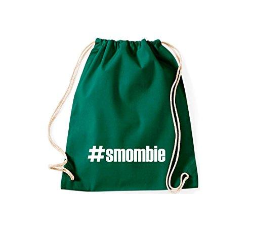 Shirtstown Turnbeutel #smombie hashtag gruen