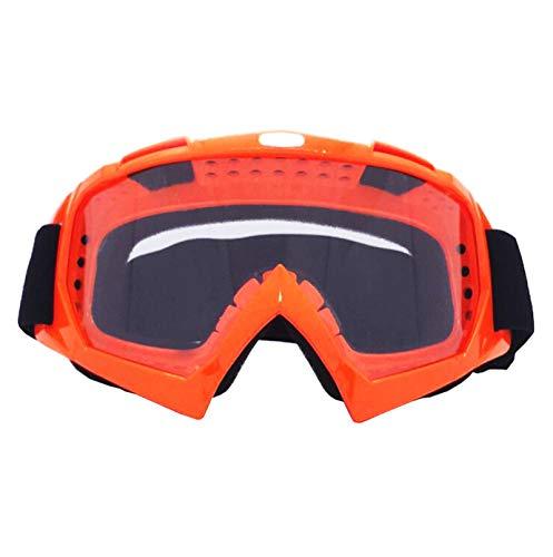 Taktische Schutzbrille Motorradausrüstung Off Road Brille Skibrille Brille Helm Reiten Outdoor Brille Orange Transparent Damen Herren