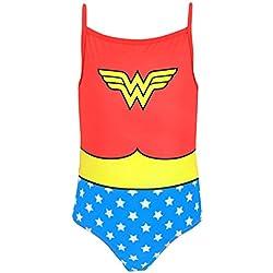 DC Comics Wonder Woman - Bañador para niña - Wonder Woman - 5 - 6 Años
