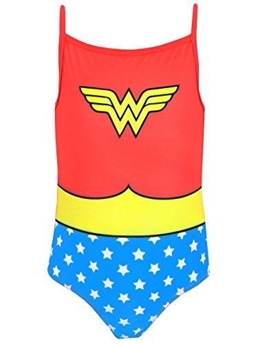 Wonder Woman DC Comics Mädchen Badeanzug 116 (Comic Heldin Wonder Woman Kostüm)