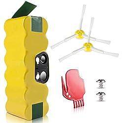 Morpilot Batterie de Remplacement pour iRobot Roomba, Ni-MH 4050mAh, Compatible avec iRobot Roomba Séries 500, 600, 700, 800, 900