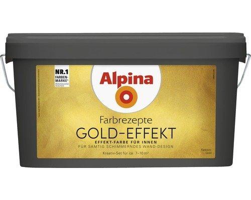 Alpina Effektfarbe Gold-Effekt Komplett-Set gold 3 Liter