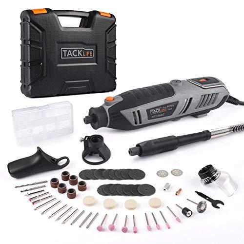 Multifunktionswerkzeug Tacklife 200 Watt, 63-tlg. Zubehör-Set und 4 Vorsatzgeräte, große Leistung ideal für Heimwerkerarbeiten RTD36AC