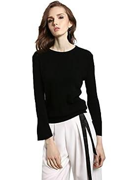 ZKOO Donna Maglioni a Maglia T Shirt Maniche Lunghe Camicetta Tops Bluse Elegante Maglioni Pullover