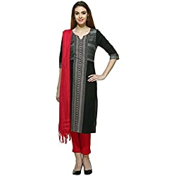 Aurelia Women's Straight Kurta (16AUK12737-78372_Black_X-Small)