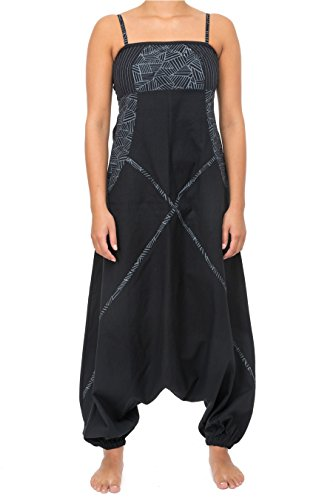 Harem Jumpsuit (- Combi Harem Ethnische Femm - Gr. Large, schwarz)