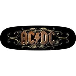 AC/DC Ornate Logo STICKER ADESIVO, Officially Licensed Products Classic Rock Artwork, 2″ x 6″ – Long Lasting Sticker DECAL