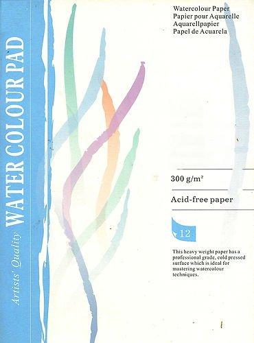 Aquarell Block 10 Blatt 300 g Din 3