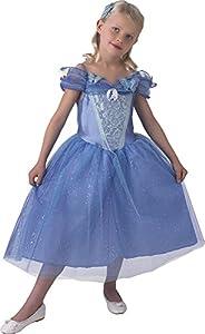 Princesas Disney - Disfraz de Cenicienta con zapatos para niña, talla 5-6 años (Rubie
