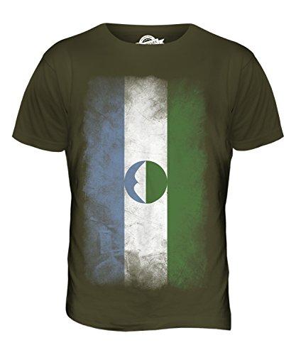 CandyMix Kabardino-Balkarien Verblichen Flagge Herren T Shirt Khaki Grün