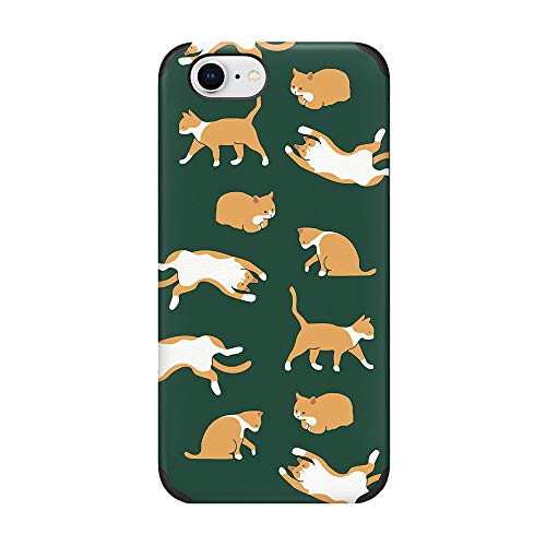 CUSTYPE Schutzhülle für iPhone 7, iPhone 8, Blumenmuster, Katze