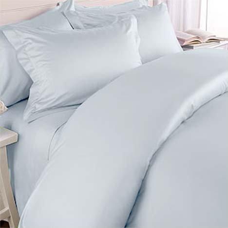 MARRIKAS (TM) 300TC Egyptian Cotton TWIN BLUE SOLID Duvet Cover Set by Marrikas - 300tc-duvet-set
