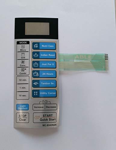 ABLE MC8040NSR Microwave Oven Membrane Keypad
