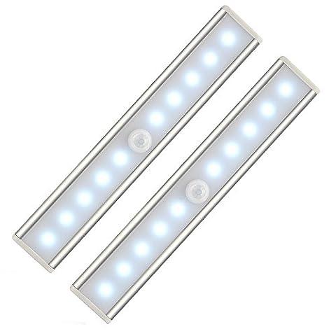 Lampe Armoire Placard 2 pièces, Kungix Lumière 10 Ampoules LED