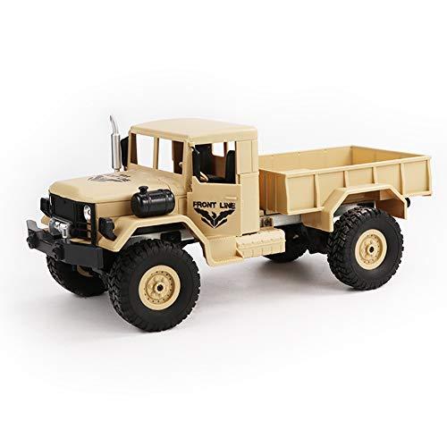 LCXX Militär Truck RC LKW Armee Ural Crawler Kettenrad Ferngesteuertes Off-Road Auto 6 Räder Racing Spielzeug Für Kinder Geschenke,Braun