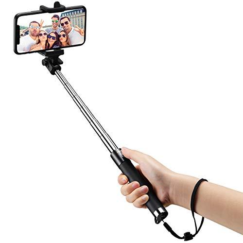 Mpow iSnap Pro X-Palo Selfie Bluetooth Extensible Remoto Portátil Universal para Selfie con Obturador Integrado y Correa para Móviles, negro