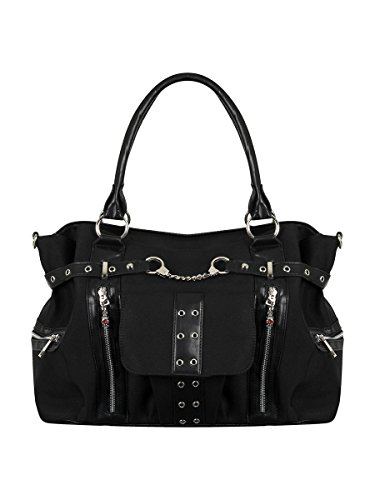 Banned Sac à main Rise Up Handcuff 39 x 26 x 14.5 cm noir