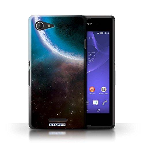 Kobalt® Imprimé Etui / Coque pour Sony Xperia E3 / Nébuleuse Orange conception / Série Cosmos Éclipse Bleu